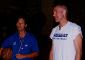 Coach Smith and Chris Mullin